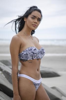 Bikinitopp - North Exclusive Marie Hvit/Svart