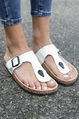 Sandaler - Line hvit