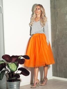 TuTu Skjørt - Blair oransje medium lengde
