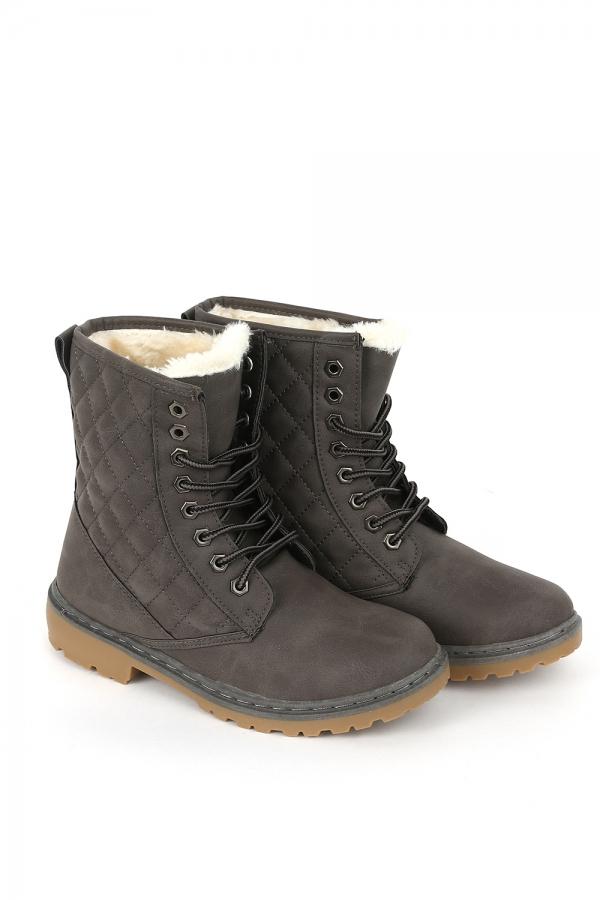 Boots - Sofia grå vinter