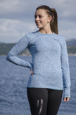 Craft - Active Comfort RN LS W blå