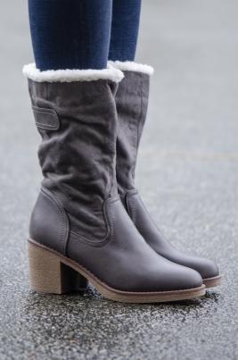 Støvletter - Anja grå