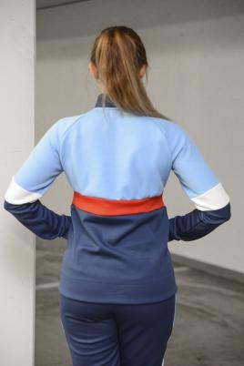 Hummel - HMLMEDUSA zip jacket blå