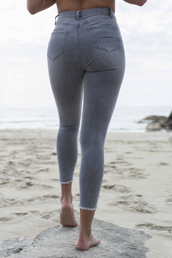 Jeans - Maren Tencel® grå