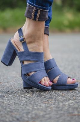 Pumps - Mia jeansblå