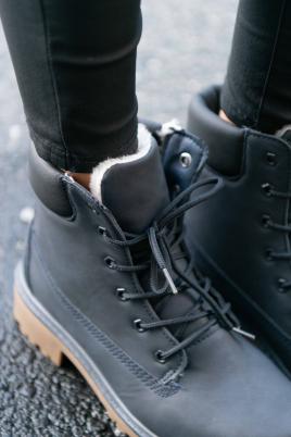 Boots - Camilla Navy Vinter