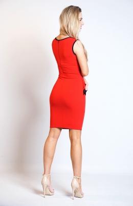 Kjole - Sarah rød/svart