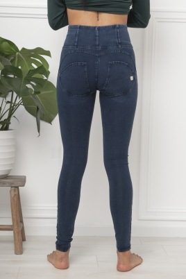 Bukse - WR.UP® high-rise super skinny trousers in dark denim-effect fabric