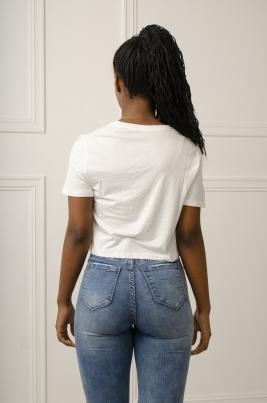 T-Skjorte - Lacey hvit