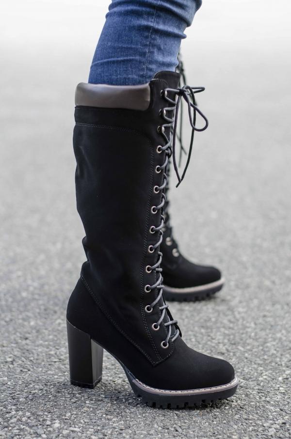 Støvletter - Eva svart