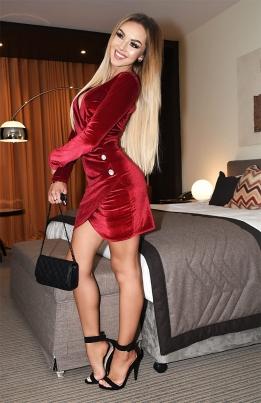 Kjole - Kayla rød