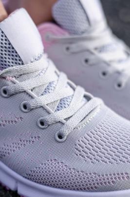 Sneakers - Linn Therese Grå/Rosa