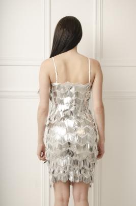 Kjole - Scarlett sølv