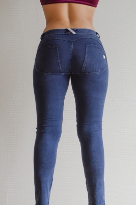 Jenas - Freddy WR.UP® Skinny Low Waist Shaping Distressed Denim Dark Blue (J0B)