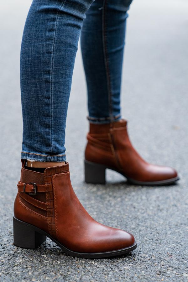 Boots - Alma camel