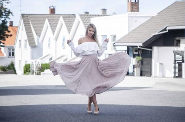 Skjørt - North Exclusive Kendall Beige