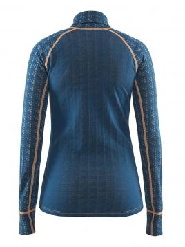 Craft - Warm Nordic Wool Zip Neck W Teal