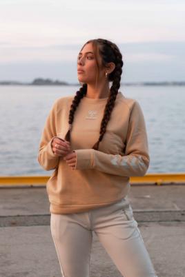 Hummel - HML NONI Sweatshirt beige