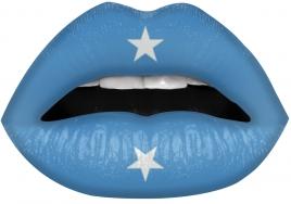Lip Sticker - Turkis Stjerne