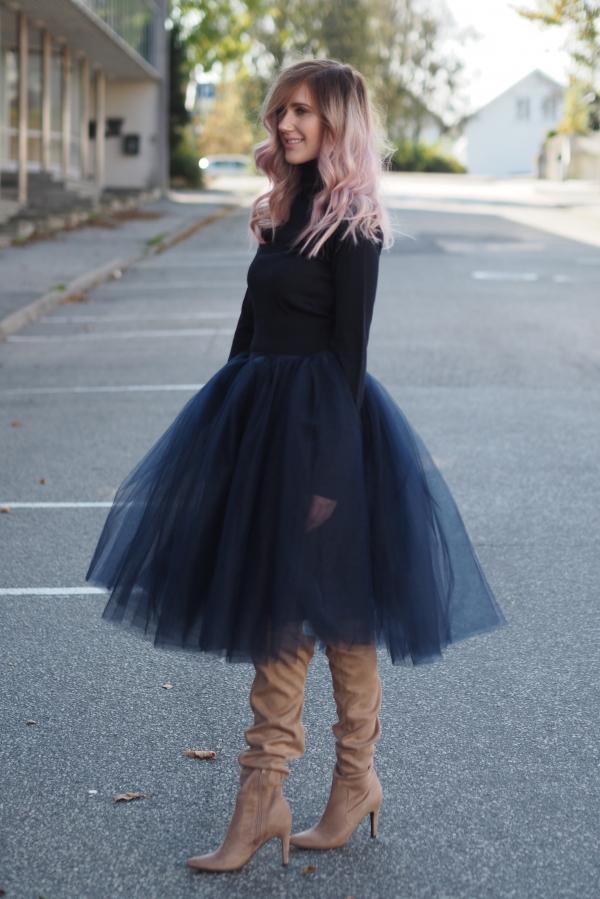 TuTu Skjørt - Blair mørk blå medium lengde