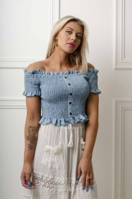 Topp - Amy blå
