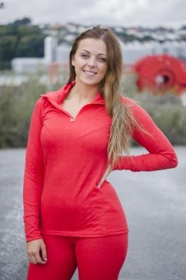 Craft - Warm Nordic Wool Zip Neck W Poppy