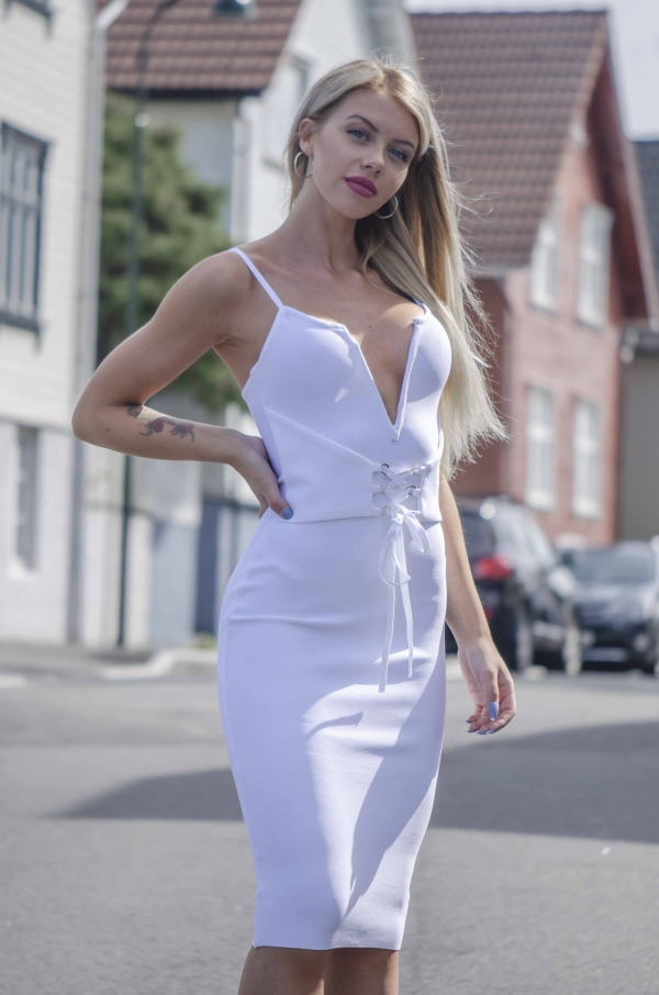Kjole- North Exclusive Penelope Hvit