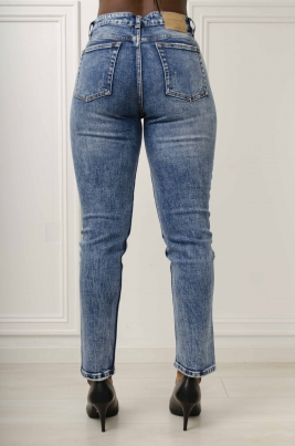 Jeans - Carmen Mom Fit blå