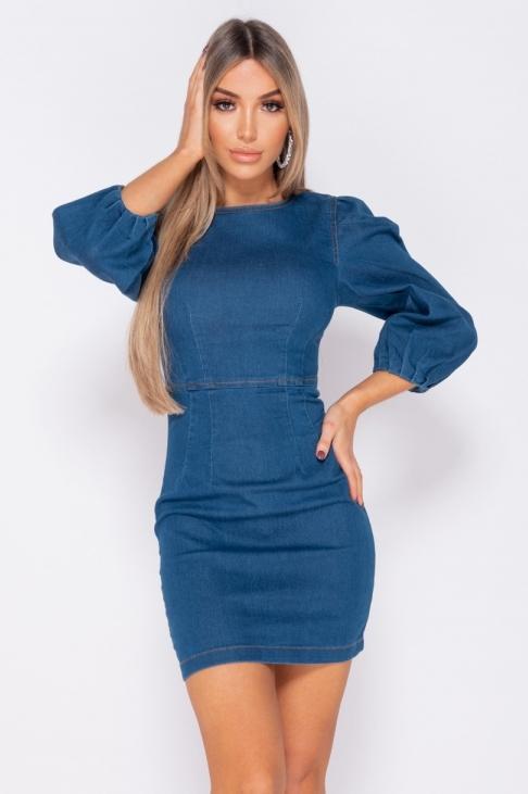 Kjole - Elena blå