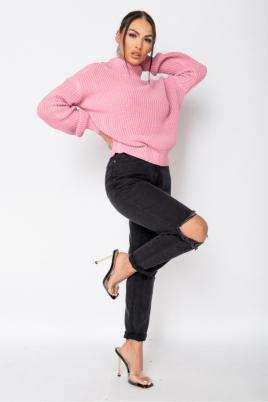 Genser - Nina lys rosa