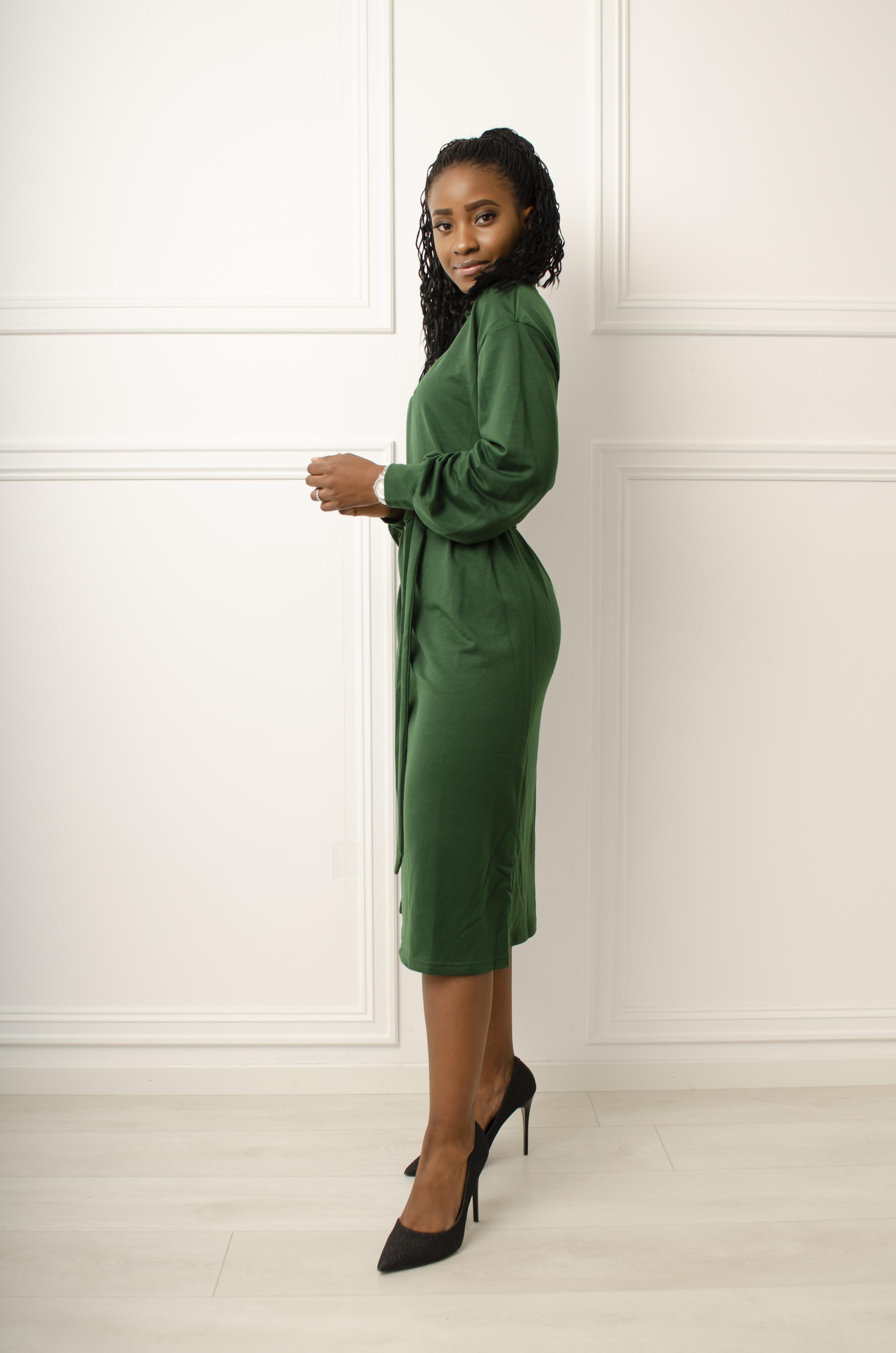 Motehus AS Kjole Victoria grønn