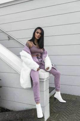 Crop top- North Exclusive Comfy Kim Lilla