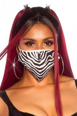 Maske - Print zebra