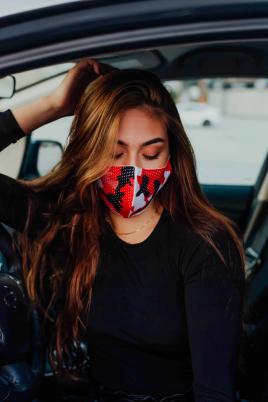 Maske - Militær rød