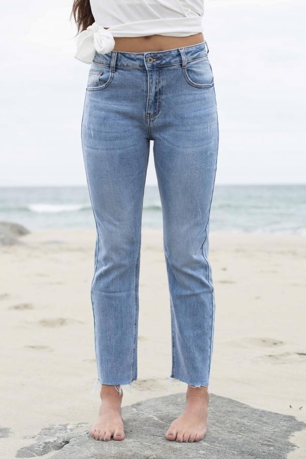 Jeans - Nille straight leg blå