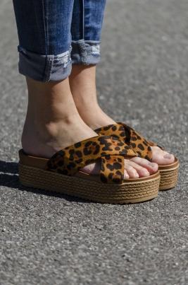Sandaler - Cora leopard