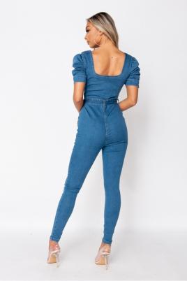 Jumpsuit - Thea lys blå
