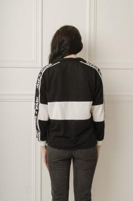 Genser - Miriam svart/hvit