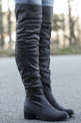 Støvletter - Marie grå
