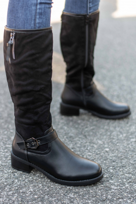 Støvletter - Dina svart