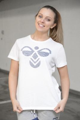 Hummel - HMLClassic Bee Fauna ss tee hvit