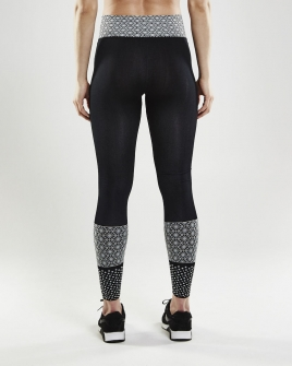 Craft - Core Block Tights W Black/White