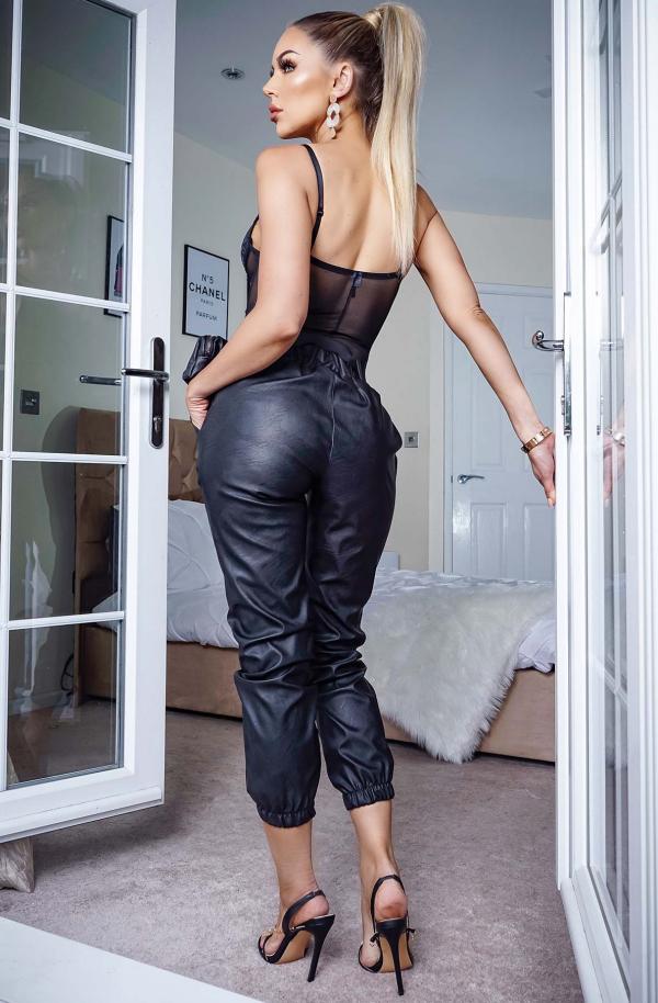 Bukse - Katrin PU svart
