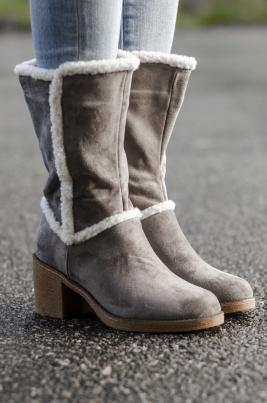 Støvletter - Pia grå