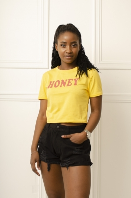T-Skjorte - Therese gul