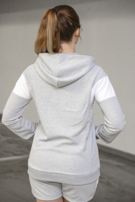 Hummel - HMLWHITLEY zip hood grå