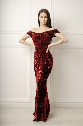 Kjole - Sandra rød