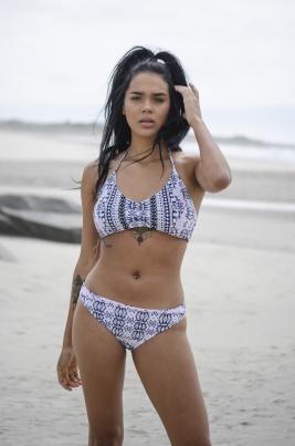 Bikinitopp - North Exclusive Caroline Hvit/Flerfarget