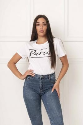 T-skjorte - Paris hvit