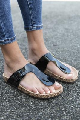 Sandaler - Line svart